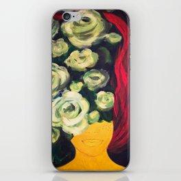 Fire girl iPhone Skin