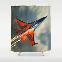 F16 Fighting Falcon Shower Curtain