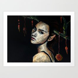 Woodland Gal Art Print