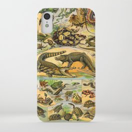Reptiles Chart Nature Vintage Snake Turtle Alligator iPhone Case
