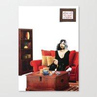 cigarettes Canvas Prints featuring Habits / Cigarettes by semlinear