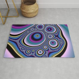 abstract cirles Rug