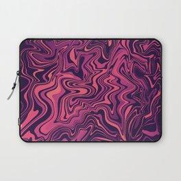 Purple & pink Liquid Marbled Agate Laptop Sleeve