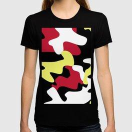 UNIQUE BLACK AND YELLOW CAMO T-shirt
