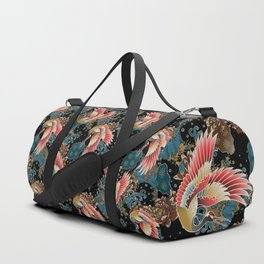 cranes and waves Duffle Bag