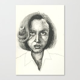 Agent Dana Scully Canvas Print