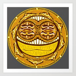 Adrenaline Mask Art Print