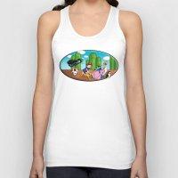 mario bros Tank Tops featuring Mario Time (Adventure Bros) by DearSweetAru