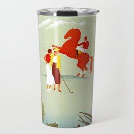 Horse riding, golf and tennis in 1920s Merano Travel Mug