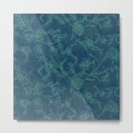Flower Pattern (Green version) Metal Print