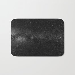 The Starry Sky (Black and White) Bath Mat