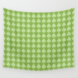 Greenery Shamrock Clover Polka dots St. Patrick's Day Wall Tapestry