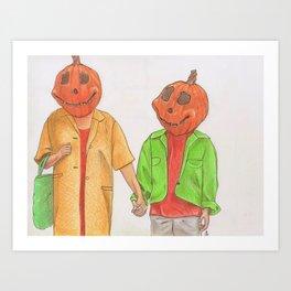 Halloweentown Citizens Art Print