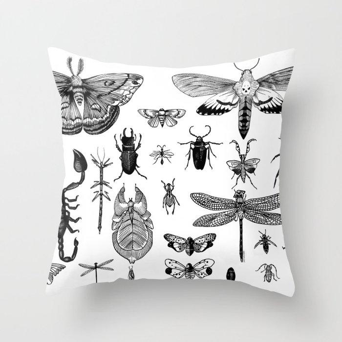 Bug Board Throw Pillow