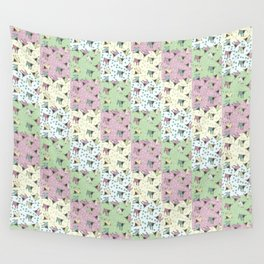 Pajama'd Baby Goats - Small Patchwork Wall Tapestry