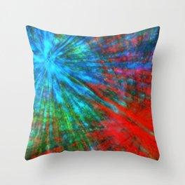 Abstract Big Bangs 001 Throw Pillow