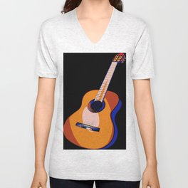 Guitar of Colors Unisex V-Neck