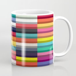 Accordion Fold Series Style J Patchwork Coffee Mug