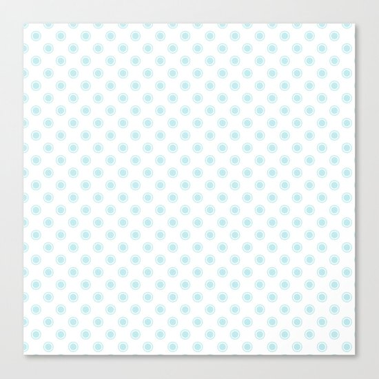 Aqua dots pattern Canvas Print