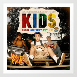 Mac Miller kids Music Cover Album Canvas Poster-unframe Art Print