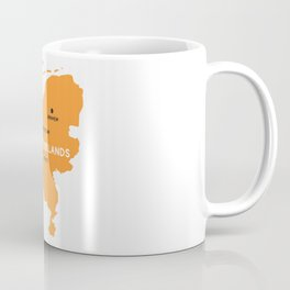 Netherlands Map Coffee Mug