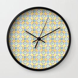 Floor Series: Peranakan Tiles 64 Wall Clock