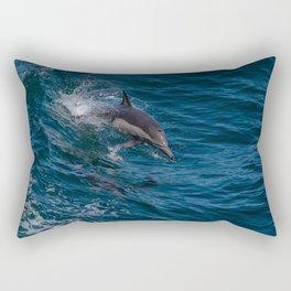Surfing Dolphin Rectangular Pillow