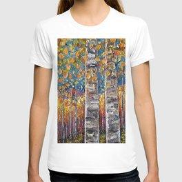Autumn Aspen Colors Palette Knife T-shirt