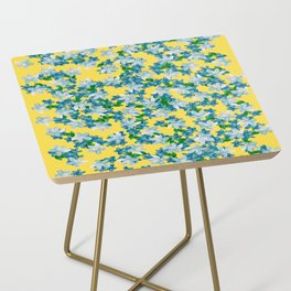 Summer Flowers Yellow Side Table