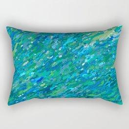 Shades Of Blue Waterfall Rectangular Pillow