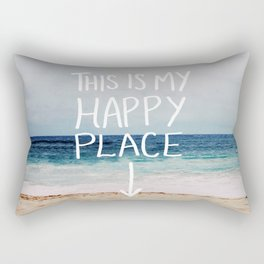 My Happy Place (Beach) Rectangular Pillow