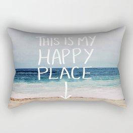 My Happy Place (Beach) Rectangular Pillow