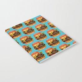 Cheeseburger Pattern Notebook