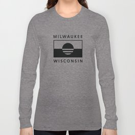Milwaukee Wisconsin - Black - People's Flag of Milwaukee Long Sleeve T-shirt