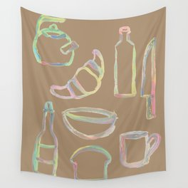 Rainbow Pastel Kitchen Wall Tapestry
