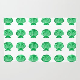Green Seashell Rug
