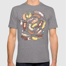 Adorable Otter Swirl MEDIUM Tri-Grey Mens Fitted Tee
