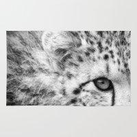 cheetah Area & Throw Rugs featuring Cheetah by Mark Nelson