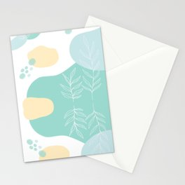 Pastel Pop in Mint Stationery Cards