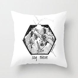 Soy Nieve / I am Snow Throw Pillow