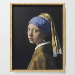 Johannes Vermeer - The girl with a pearl earring Serving Tray