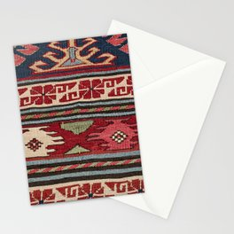 Yellow Red Star Fire Sumakh 19th Century Authentic Colorful Aztec Vibes Vintage Patterns Stationery Cards