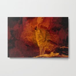 Wolf Spirit Guide Metal Print