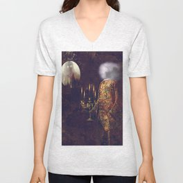 ghosts of the Louvre Unisex V-Neck
