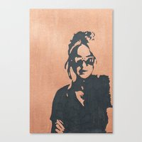sunglasses Canvas Prints featuring sunglasses by mary grace