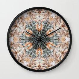 Variations on river birch bark IV Wall Clock