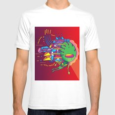 Alien Colors MEDIUM White Mens Fitted Tee