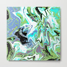 Fluid Abstract 03 Metal Print