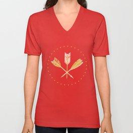 aztec arrows Unisex V-Neck