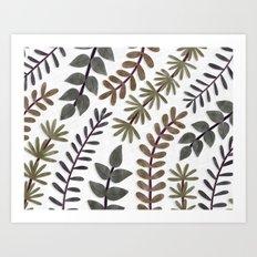Leaves Vines Plant Painting Illustration Trending Popular Minimalistic Art Print